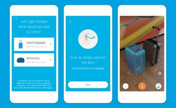 KLM lanza una app para comprobar el tamaño del equipaje de mano