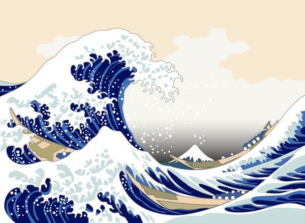 Dal Giappone alla Russia: la Grande Onda di Hokusai diventa un immenso murales