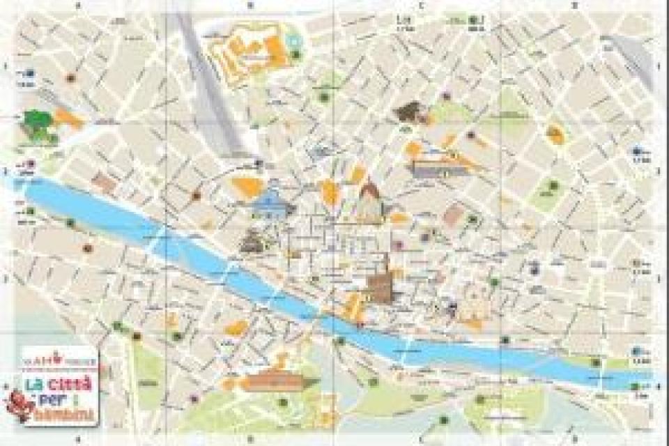 Firenze una mappa a misura di bambino easyviaggio - Londra punti d interesse ...