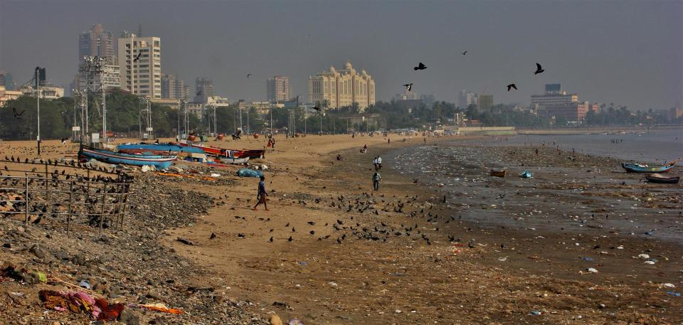 Chowpatty Beach en Inde