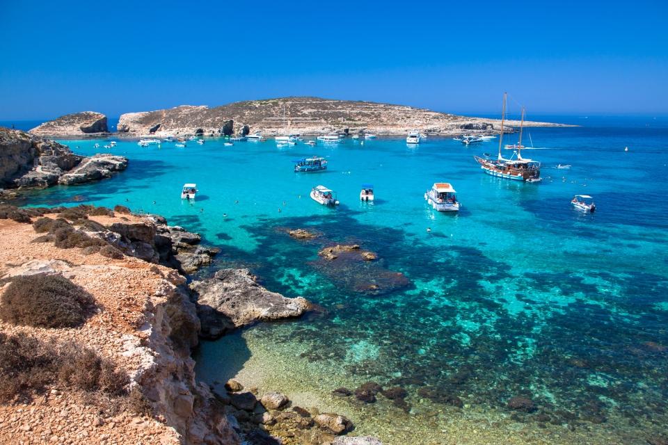 Le lagon de Comino à Malte