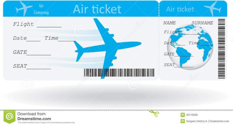 Sondage quel serait le juste prix des billets d 39 avion for Flight ticket template gift