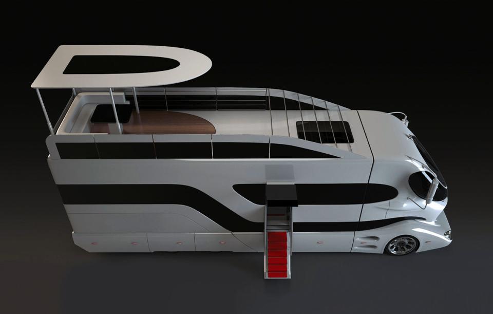 Le camping car le plus luxueux du monde easyvoyage for Camping car de luxe avec piscine