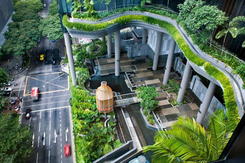 le parkroyal on pickering un tonnant h tel jardin singapour easyvoyage. Black Bedroom Furniture Sets. Home Design Ideas
