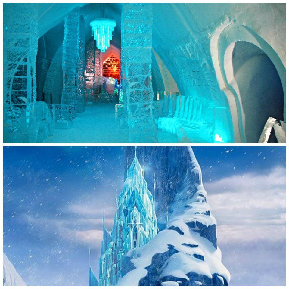 El Hotel de Hielo y el Castillo de Hielo de Elsa en Frozen