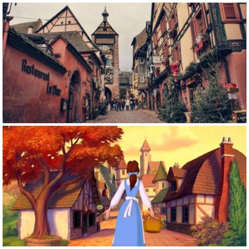 Pueblos de Alsacia y el pueblo de Bella
