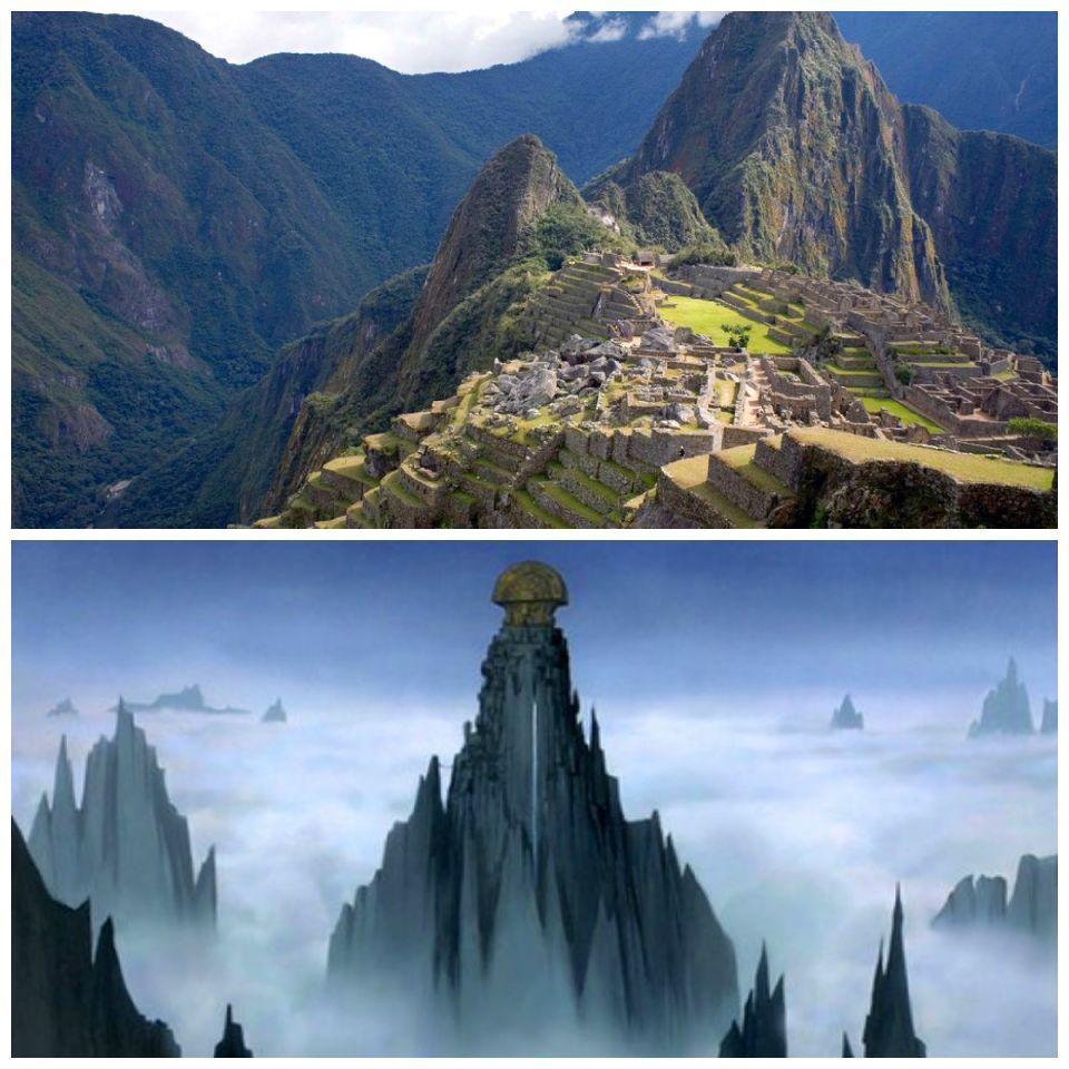 Machu Picchu y la aldea de Pacha del Emperador y sus locuras