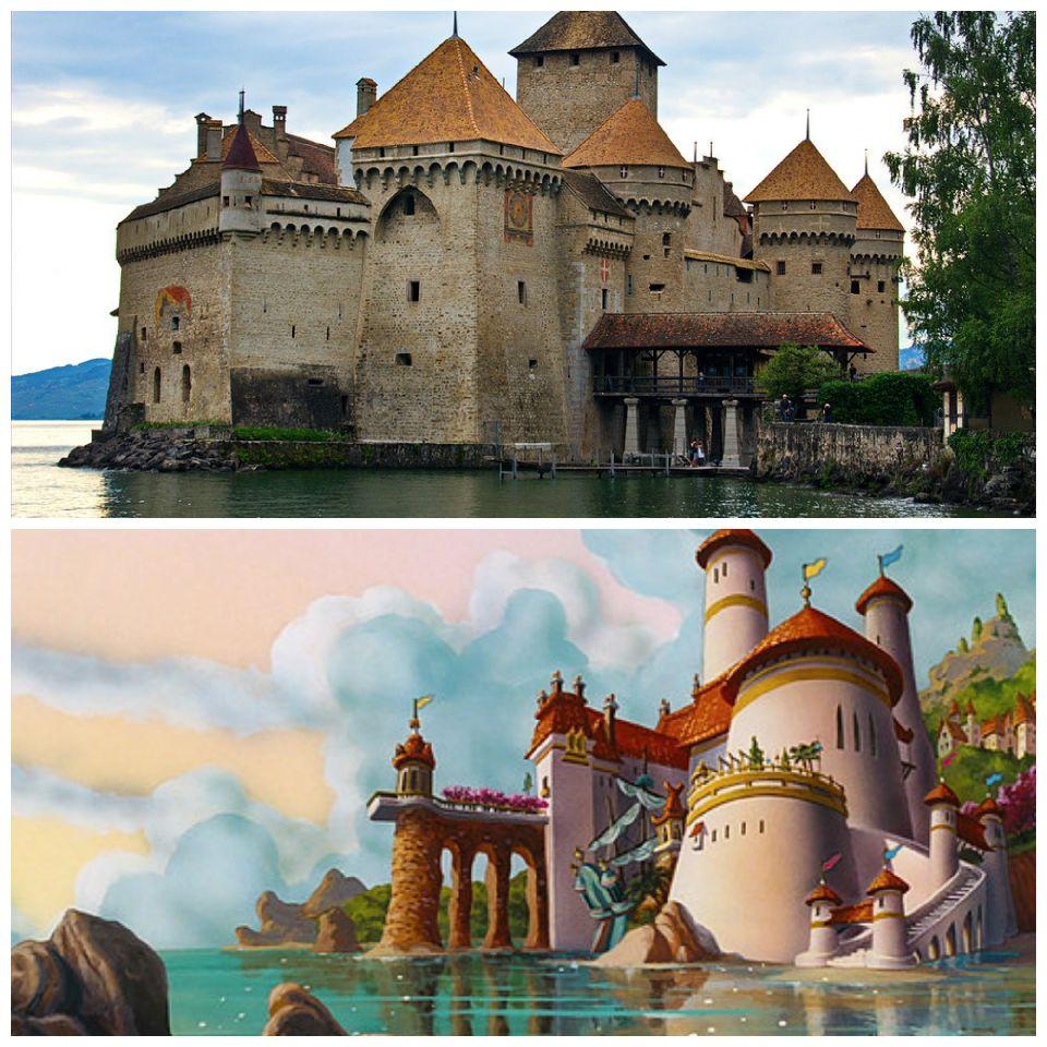 El Castillo de Chillon y el Castillo de Eric en la Sirenita