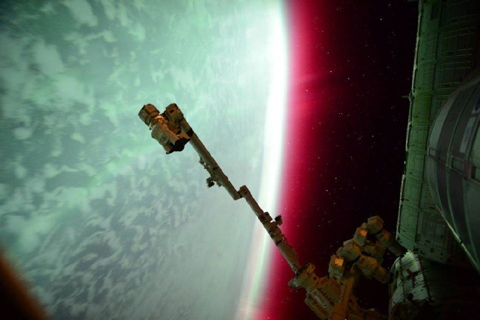 Lights of an Aurora From the International Space Station
