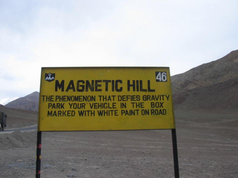 Colline magnétique à Leh, en Inde