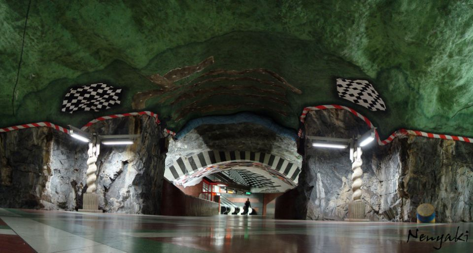 stockholm subway is world s longest art gallery   easyvoyage