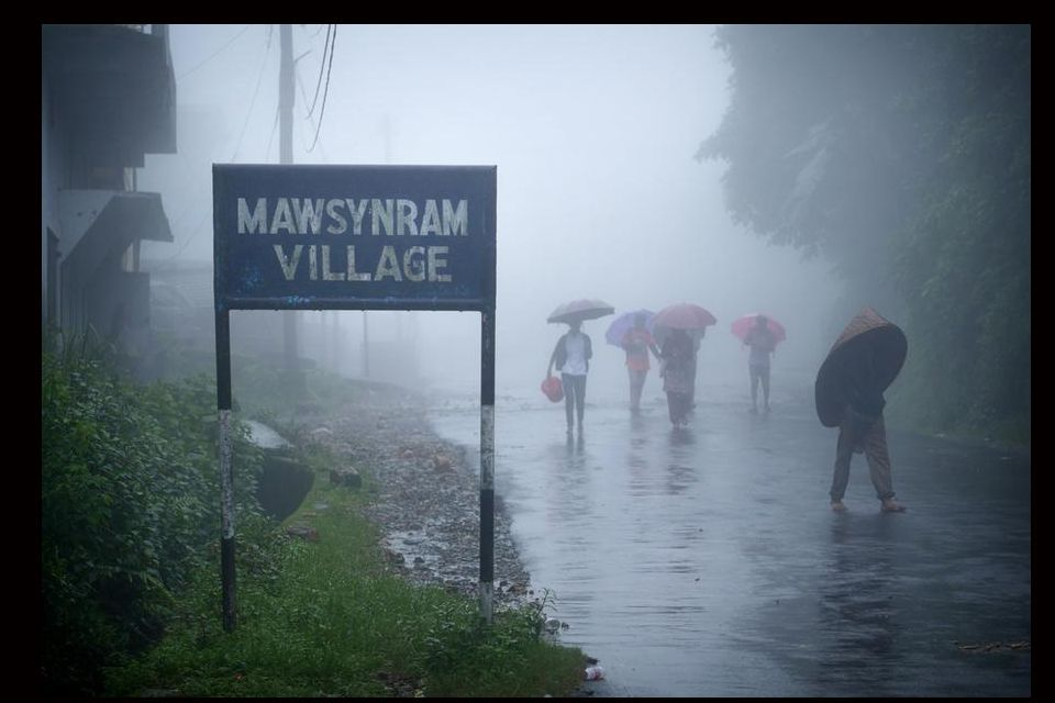The rainiest place in the world: Mawsynram, India