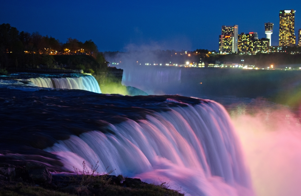 Devant les chutes du Niagara