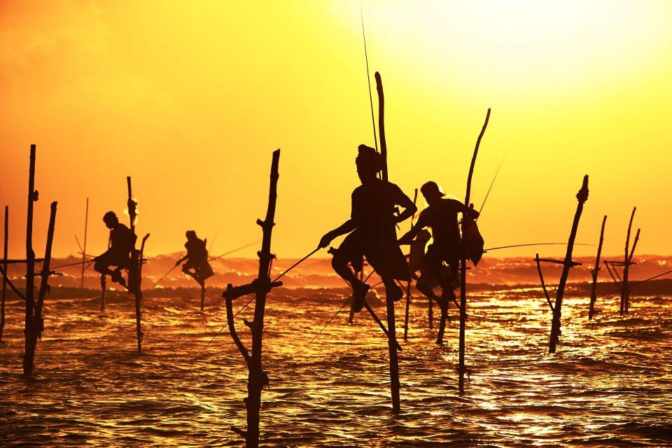 Coucher de soleil au Sri Lanka...