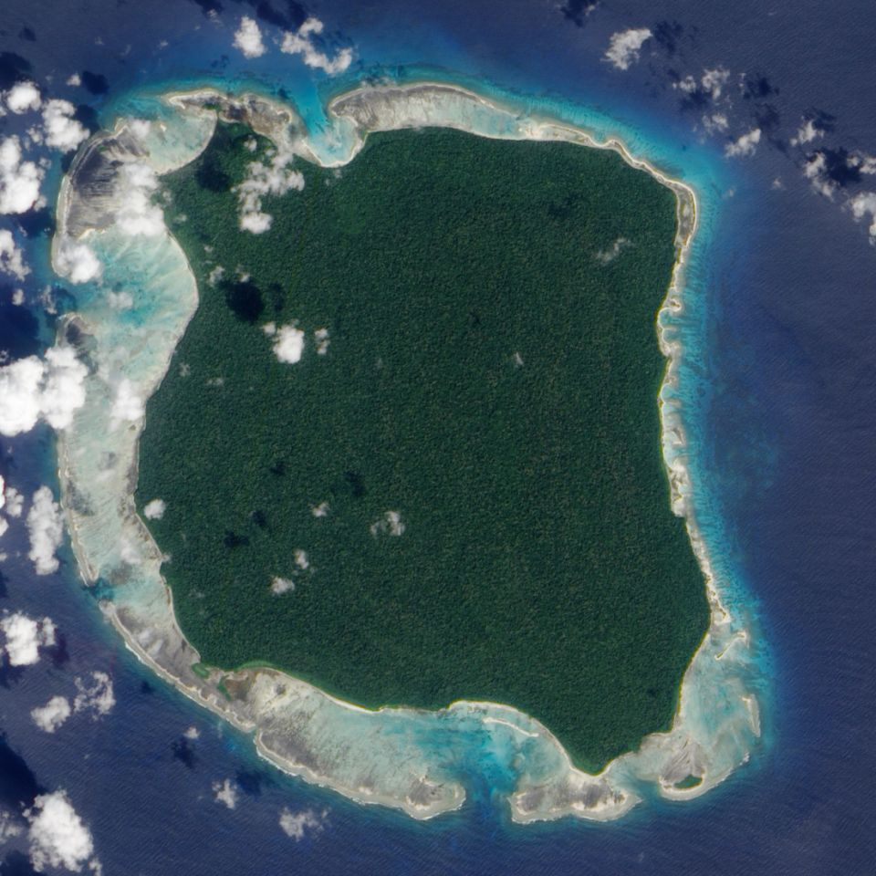 North Sentinel Island from above