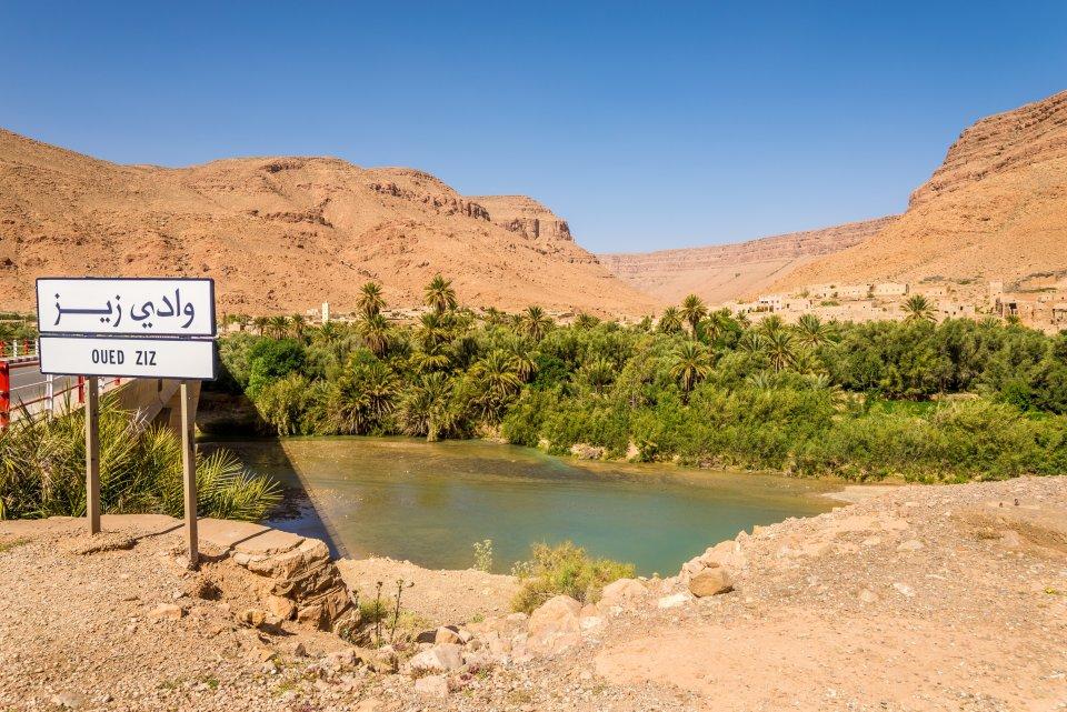 L'oasis de Tafilalet traversée par l'Oued Ziz