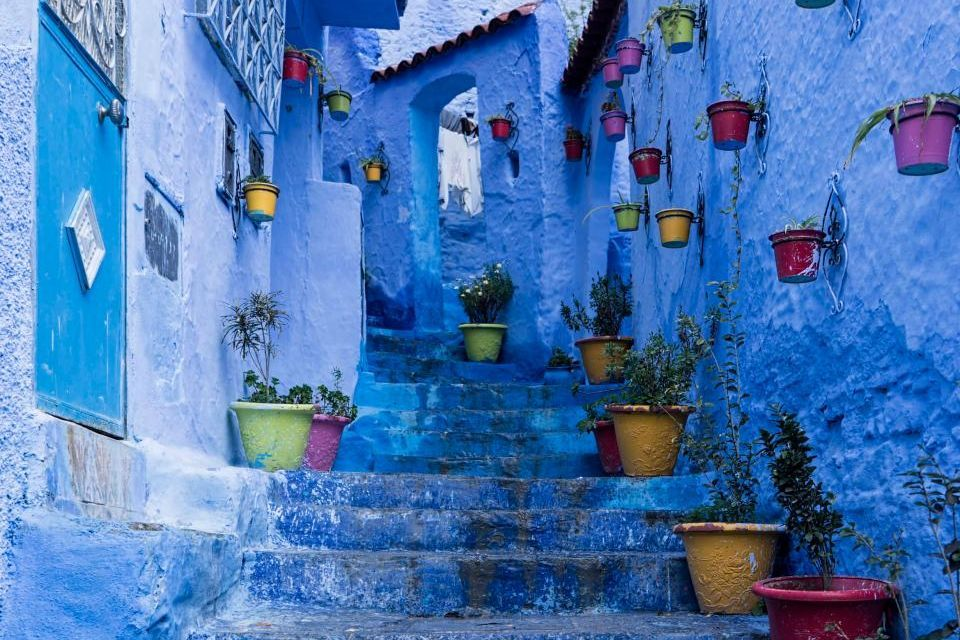 Chefchaouen's romantic narrow  streets