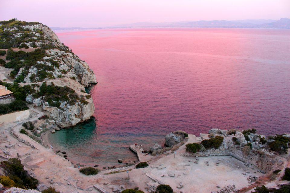 Il mare si tinge di rosa