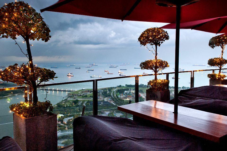 Le bar Ce La Vi et sa vue panoramique
