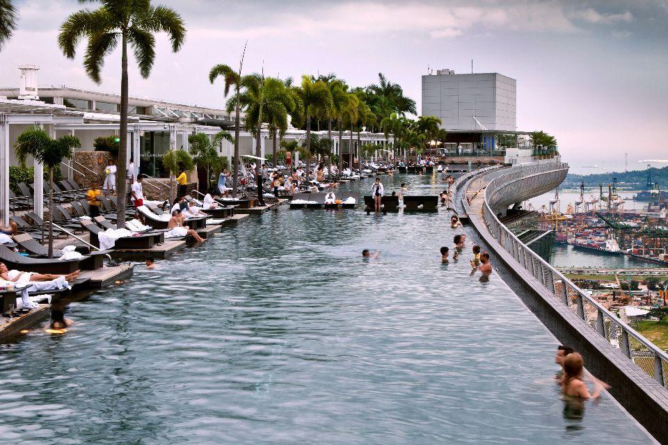 La piscine à débordement la plus longue du monde