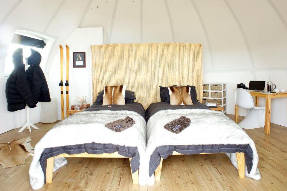 Les chambres spacieuses du White Desert