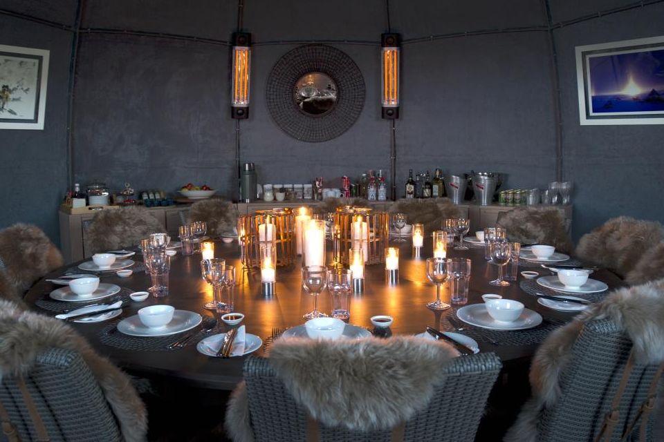 La chaleureuse salle à manger