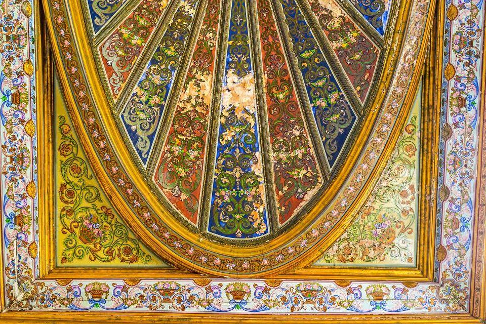 Détail du plafond doré du Musée national du Bardo