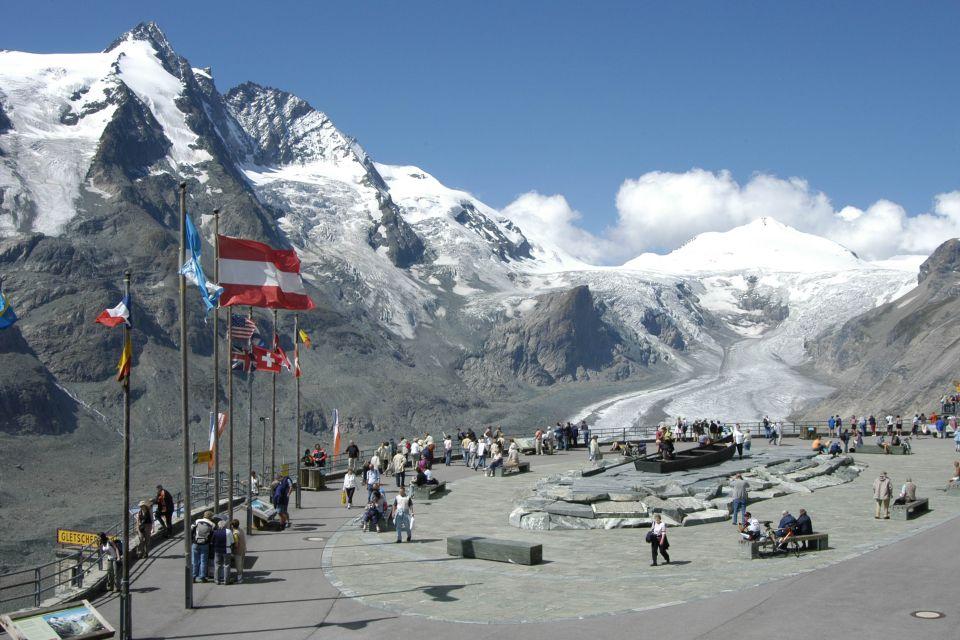 Vue sur le glacier