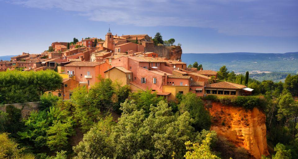 Roussillon au coucher de soleil