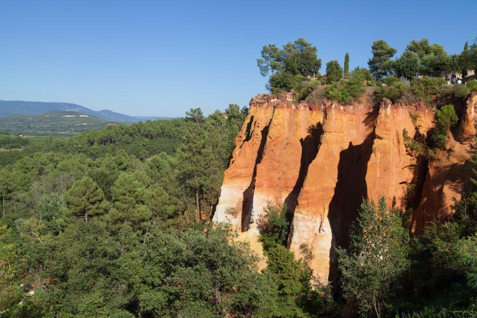Les falaises d'ocre du Roussillon