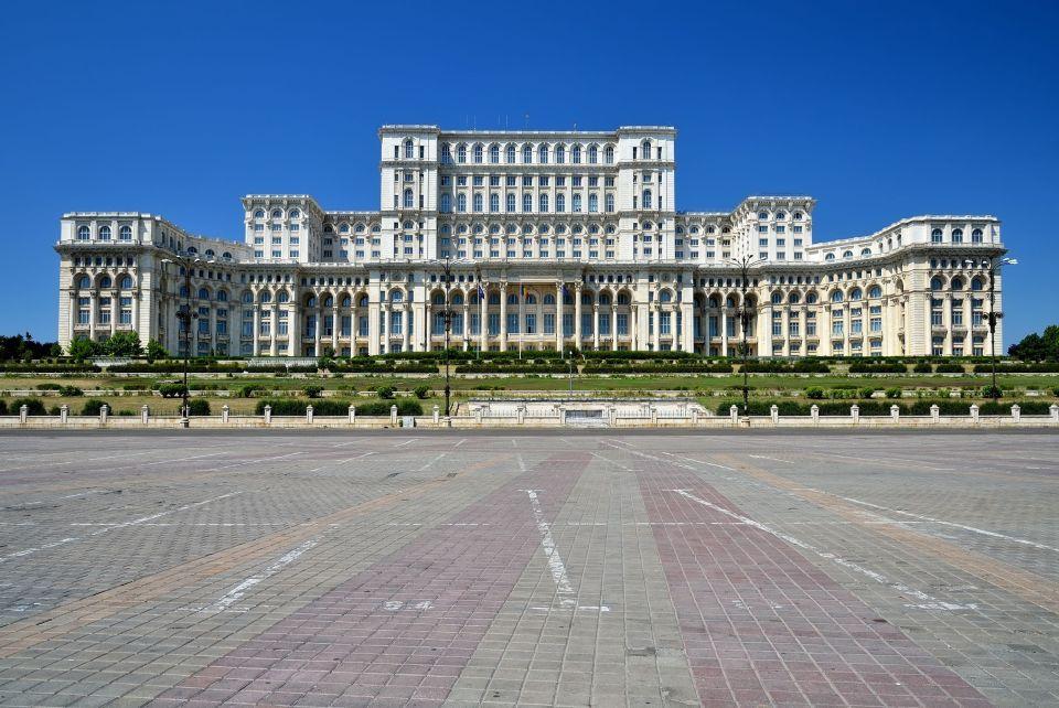 Le palais du Parlement de Bucarest en Roumanie