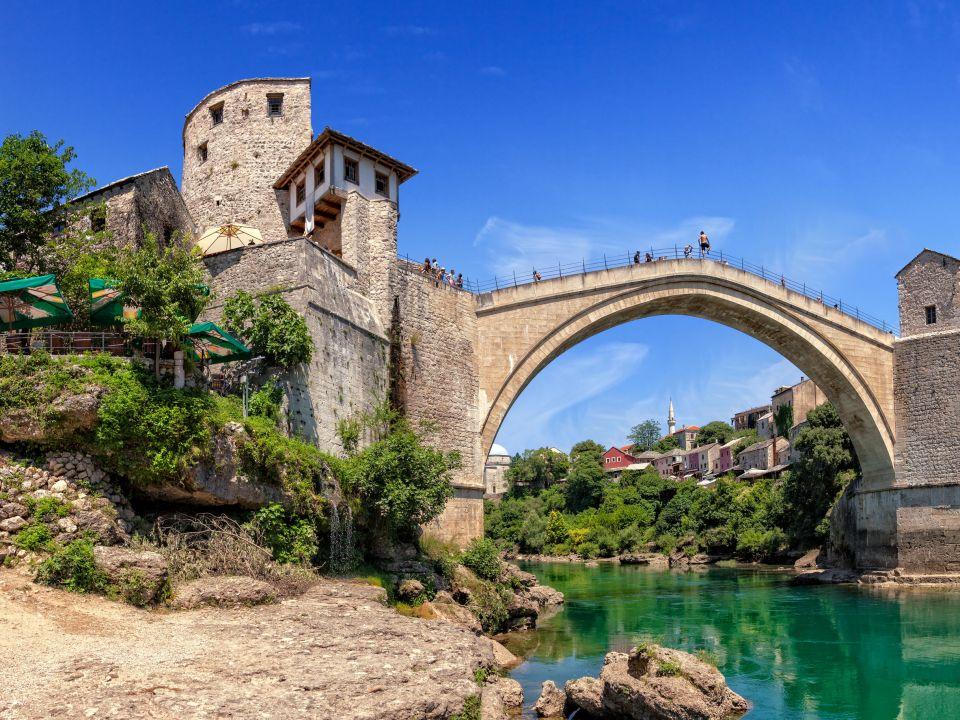 Le pont de Mostar en Bosnie-Herzégovine