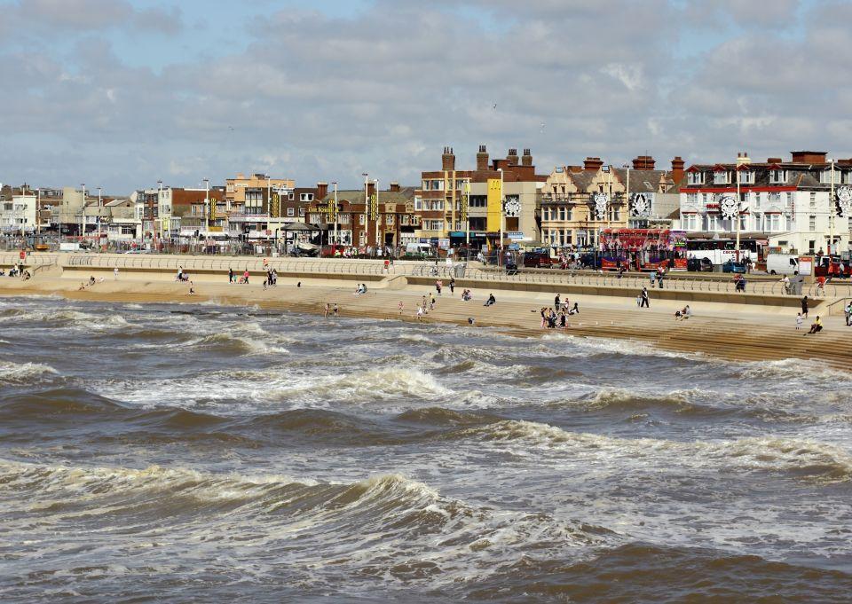 Grande-Bretagne, la plage de Blackpool