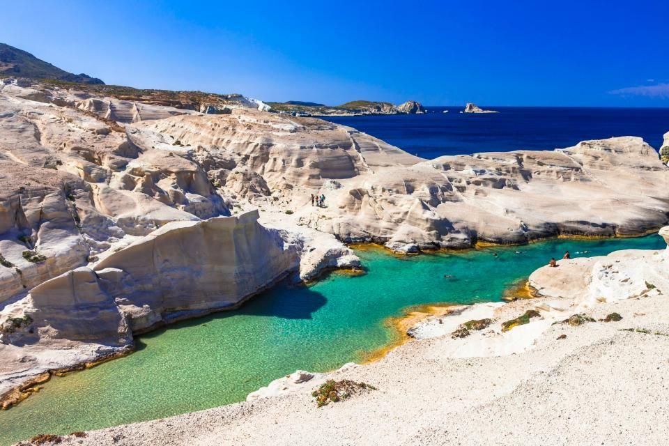 Spiag Sarakiniko una delle spiagge più belle dell'isola di Milos