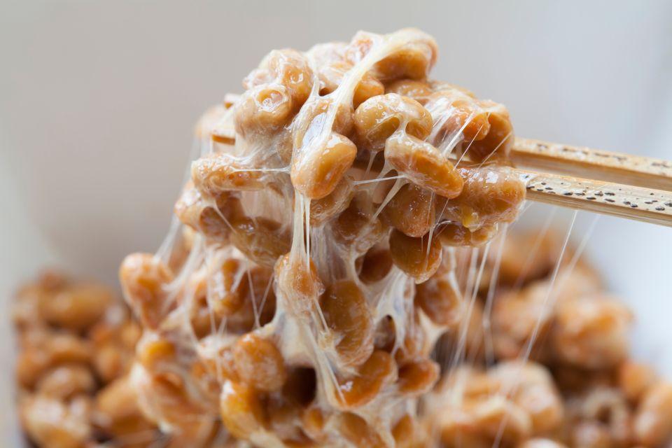 Natto-fermentierte Soyabohnen