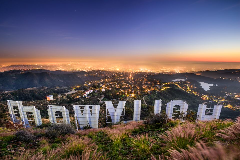 Au pied du panneau Hollywood