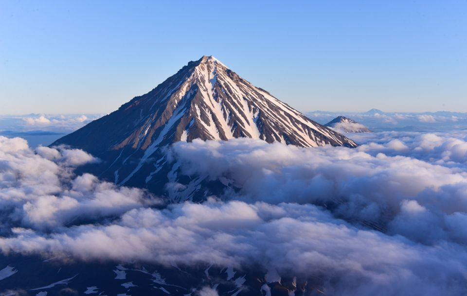 Il vulcano della penisola della Kamcatka