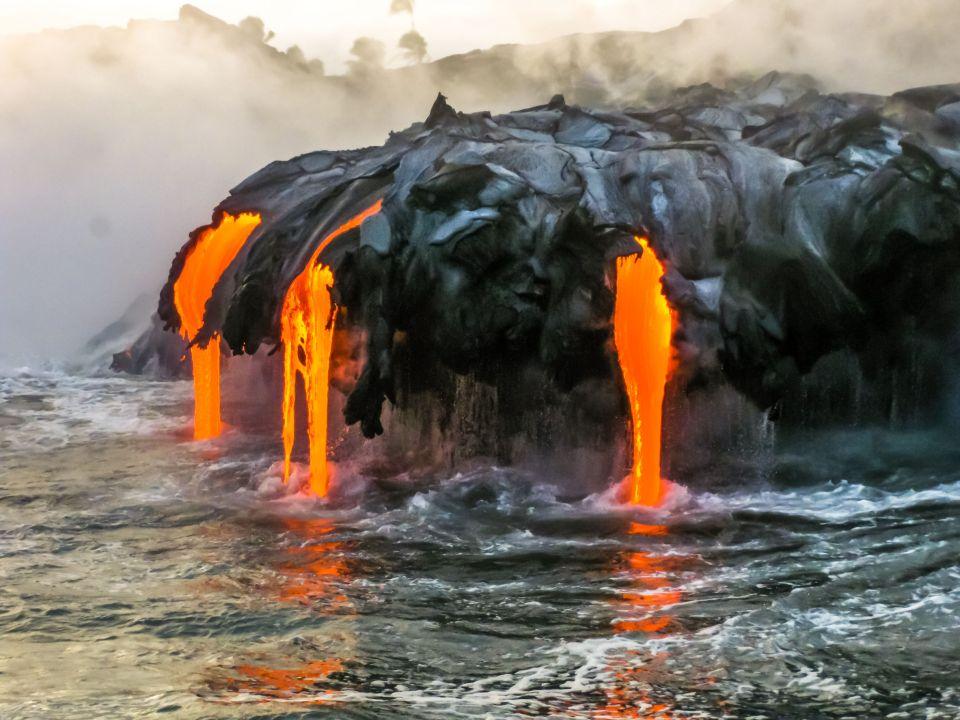 Le Kilauea : entre terre et mer