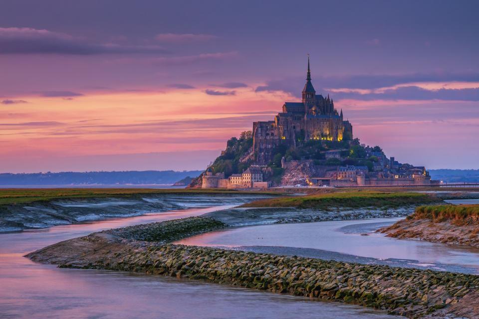 Das Schloss le Mont-Saint-Michel in der Normandie, Frankreich