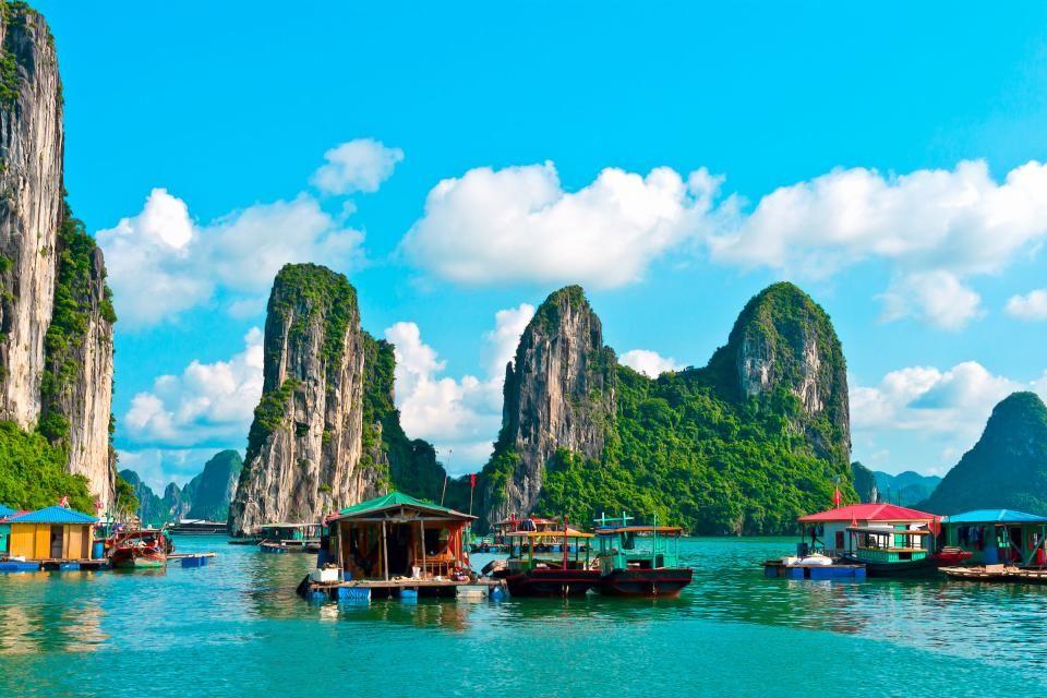 Die Halong-Bucht in Vietnam