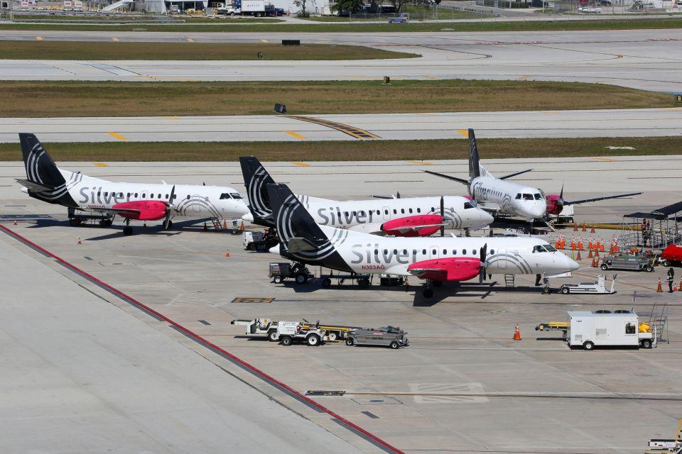 Les ébats se sont produits dans un avion de Silver Airways