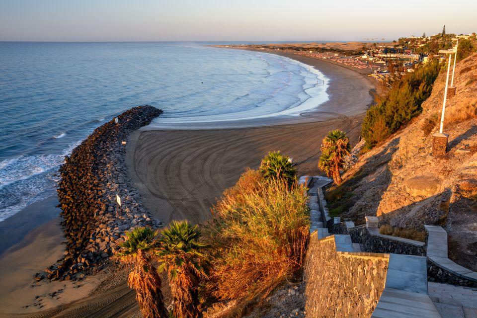 Spiaggia di Playa del Inglés a Gran Canaria, Spagna
