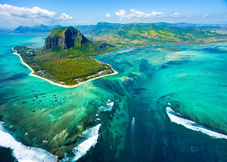 1. Las cataratas submarinas de la Isla Mauricio