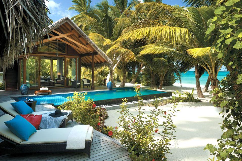 Piscine privée d'une villa au Shangri-La Villingili Resort Spa