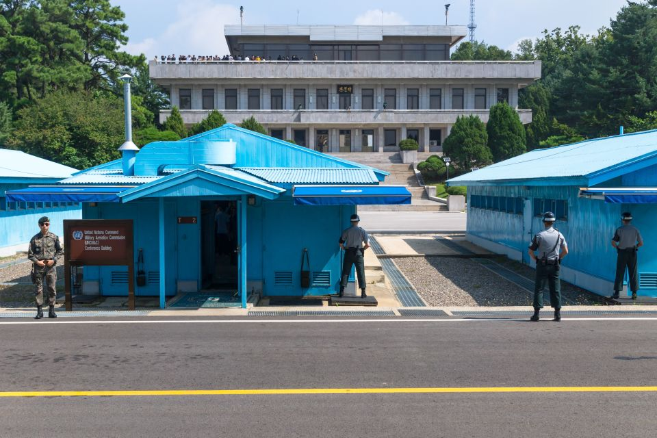 Between North Korea and South Korea