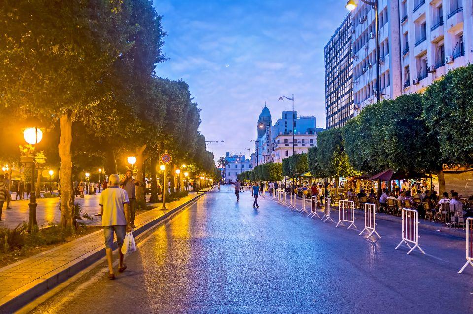 L'avenue Habib Bourguiba à Tunis