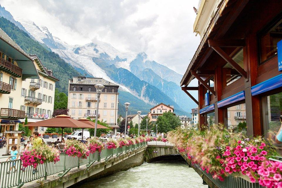 Chamonix dans les Alpes