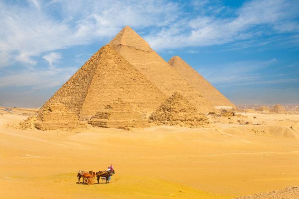 Les pyramides de Gizeh - Égypte