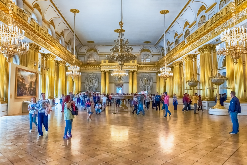 Admire artwork at The State Hermitage Museum