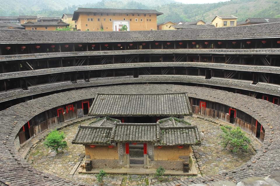 Un tulou dans le village de Yuchang Lou
